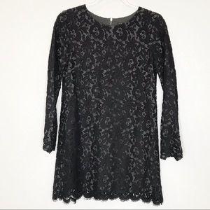 Theory black lace Camori sheath dress